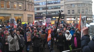 Protest in Sheffield