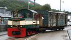 Carriage being hauled into Porthmadog