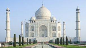 The original Taj Mahal in the Indian city of Agra