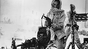 Palestinian fighters in Amman during Black September