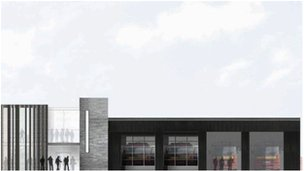 An artist impression of the new fire station