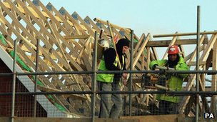 Builders working on a house in Kent