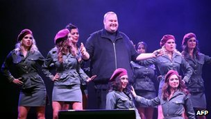 Kim Dotcom at his launch party for Mega