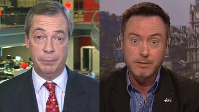 Nigel Farage and Alyn Smith