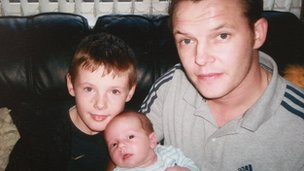 Stephen McFaul with his sons Dylan and Jake