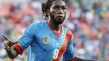 Democratic Republic of Congo forward Dieudonne Mbokani celebrates scoring