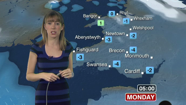Holly Green presents the weather
