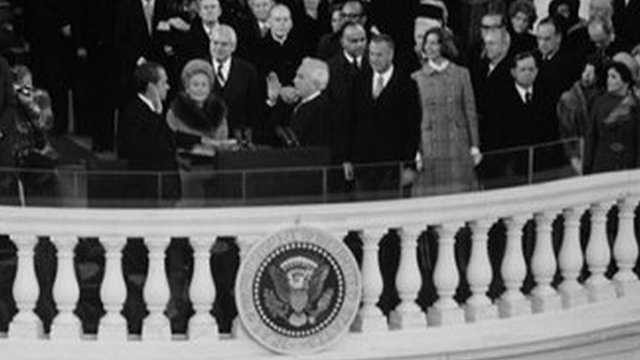 Nixon is sworn in