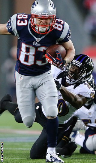 Wes Welker scored the game's first touchdown