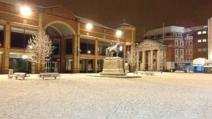 Broadgate in snow