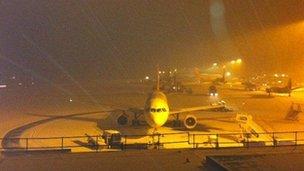 Snow at Bristol Airport