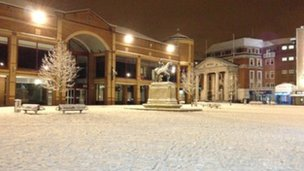 Coventry in snow