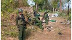 Kachin KIA Soldiers in Forward Post Hilltop