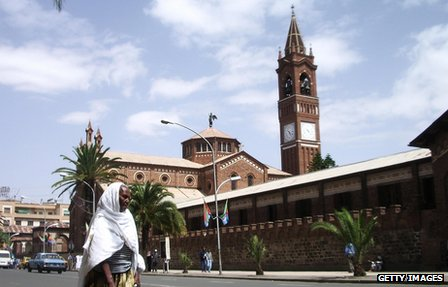 The Cathedral and Catholic Mission in Eritrea&#039;s capital Asmara
