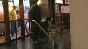 Cleaning up at Greyfriars bus station