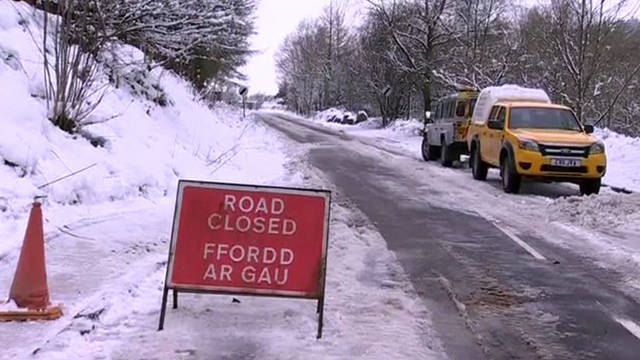 Road closed due to ice