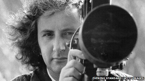 Michael Winner with film camera