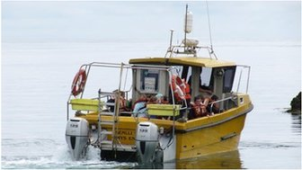 Colin Evans and his fishing boat