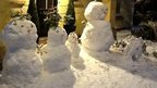 A family of snowmen.