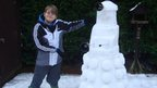 Liam and his snow Dalek