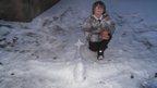 An ice plane sculpture