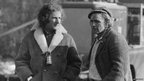 Michael Brando and Marlon Brando on set of Nightcomers 1970