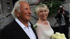 Michael Winner marrying Geraldine