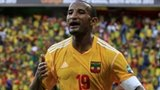 Ethiopia striker Adane Girma celebrates scoring the equaliser against Zambia