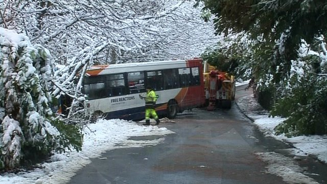 Bus in Abercarn