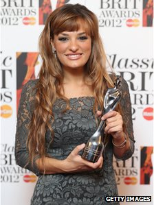 Nicola Benedetti holds the award for Best Female Artist as she attends the Classic Brit Awards in October