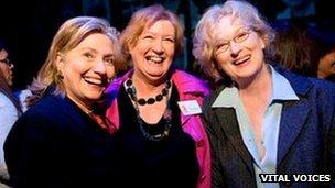 Hillary Clinton, Inez McCormack and Meryl Streep