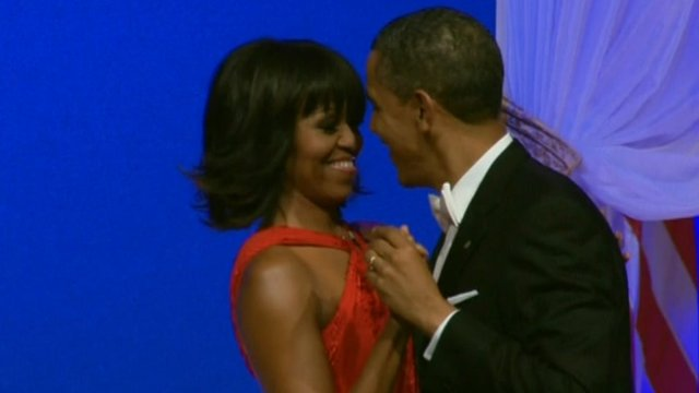 President Obama and Michelle dancing