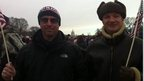 Stefan Pryce and his friend Ryan standing in the Smithsonian area of the National Mall