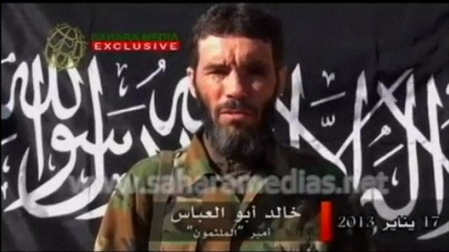 Internet video of Mokhtar Belmokhtar