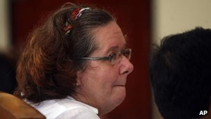 Lindsay Sandiford in court in Denpasar, Bali, on 7 January