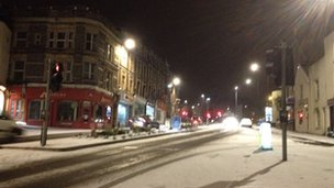 Snow on Blackboy Hill, Bristol