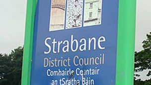 Strabane District Council sign