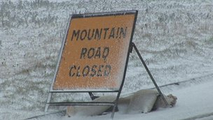 Mountain Road sign