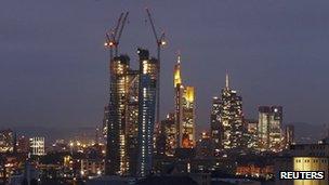 ECB headquarters under construction in Frankfurt