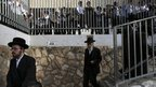 Ultra-Orthodox Jews arrive to vote in Bnei Brak, Israel. 22 Jan 2013
