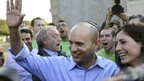 Naftali Bennett after casting his vote in Ra'anana, central Israel. 22 Jan 2013