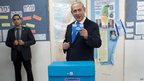 Israeli Prime Minister Benjamin Netanyahu casts vote in Jerusalem