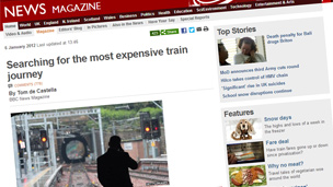 Searching for the most expensive train journey