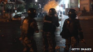 Riot police at protests in Nov 2012