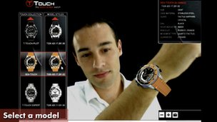 Tissot's augmented reality shopping
