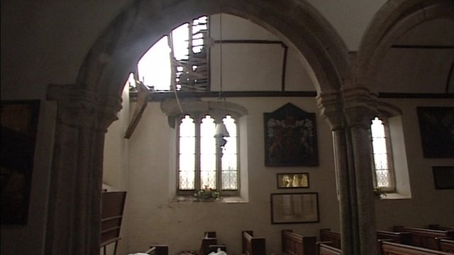 Damage at Pillaton Church