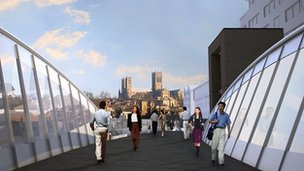 Proposed footbridge at Brayford Wharf, Lincoln
