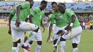 Togo players celebrate