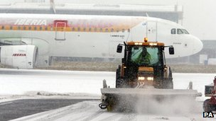 Snow plough at Heathrow Airport