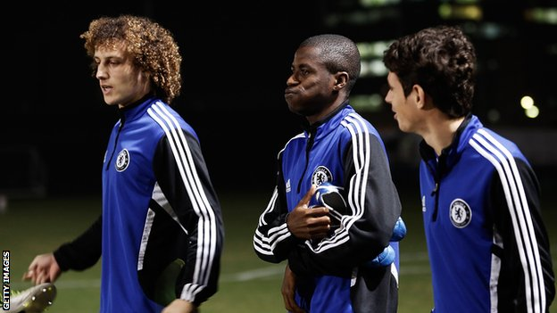 David Luiz (left), Ramires (centre) and Oscar